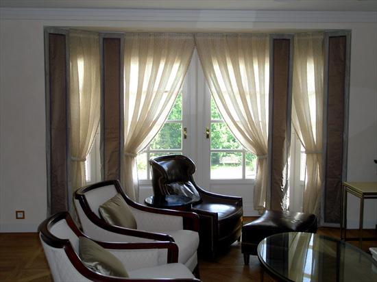 Дизайн штор для эркерных окон фото