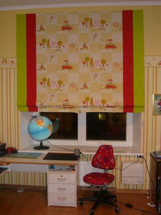 Римские шторы своими руками в детскую комнату 99