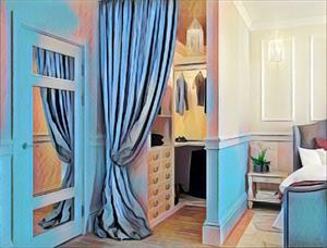 Шторы и занавески для гардеробных комнат