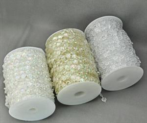 Гирлянда-лента-цепочка из бусин или бус на катушке-шпульке-бобине-бухте