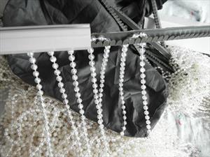 Изготовление шторы из бусин из материала заказчика