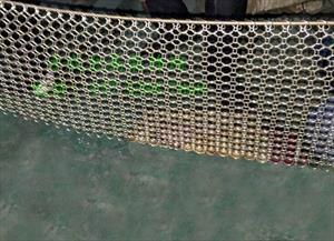 Изготовление металлических штор из декоративной сетки-кольчужки