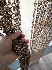 Изготовление металлических штор -панно -перегородок из декоративных цепочек