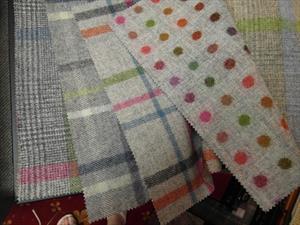 Ткани MOON коллекция Dales, дизайны в сером цвете Malham, Multicheck, Multispot
