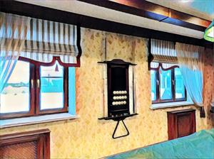 Шторы и ламбрекены в бильярдную комнату